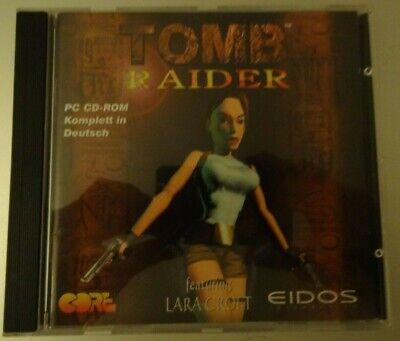 Tomb Raider 1 Lara Croft PC Spiel Core Eidos CD-ROM IBM PC 1996 Deutsch 3D Game for sale  Shipping to Nigeria