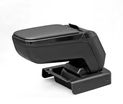 Weiß CC Armlehne Mittelarmlehne Leder Bezug Schwarz SW Für Peugeot 207