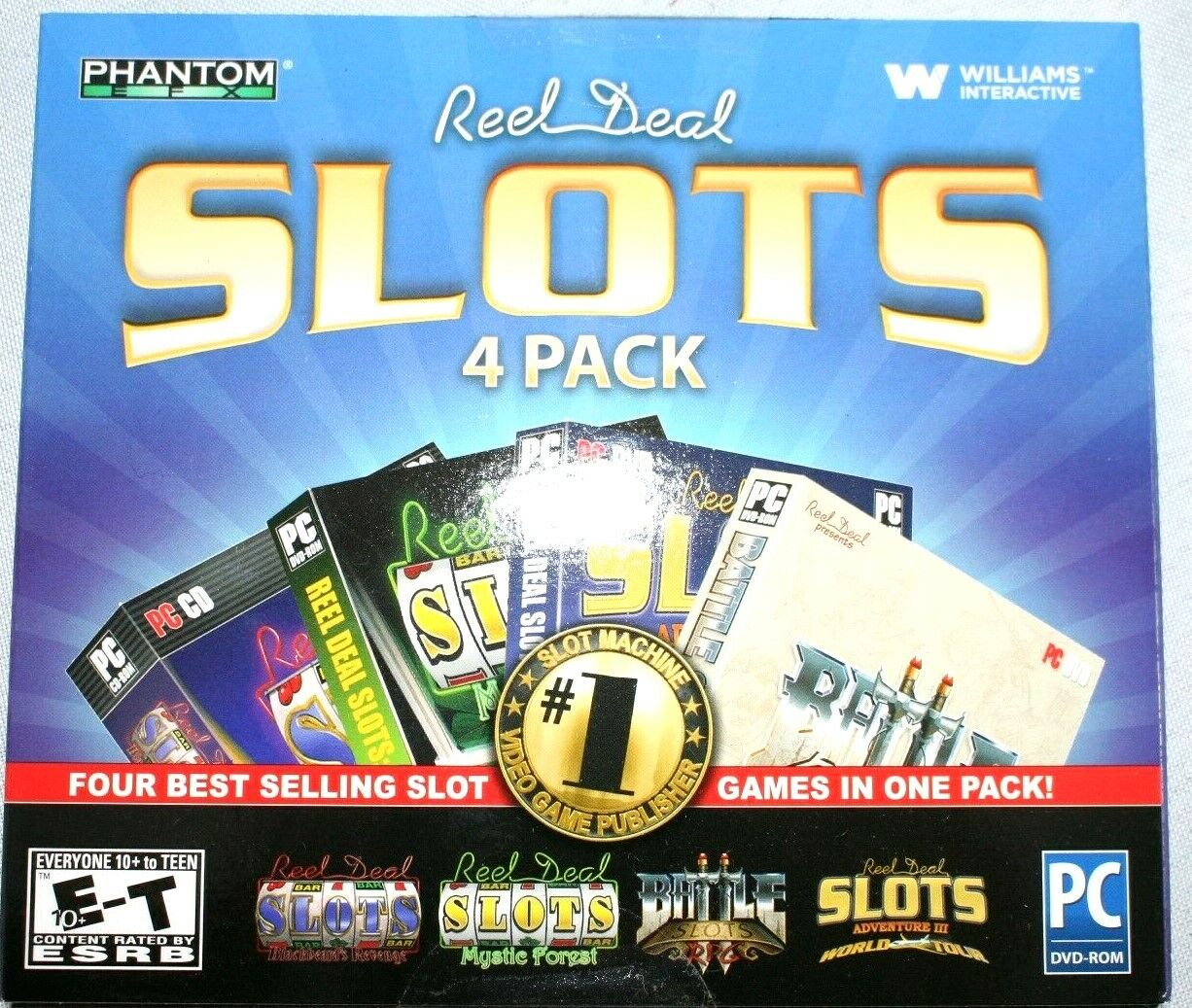 Computer Games - Reel Deal Slots 4 Pack PC Games Windows 10 8 7 XP Computer slot machines Game