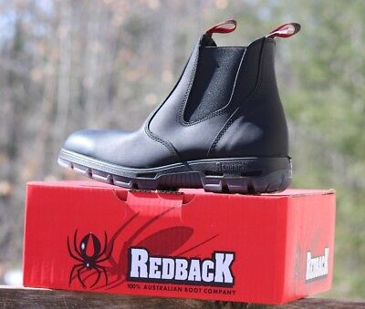 Comfortable Steel Toe Shoes - NEW Redback USBBK Men's Easy Escape Steel Safety Toe Work Boots NIB Leather