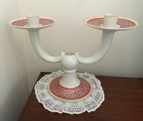 Vintage Rosenthal Porcelain Candelabra 2 Light Candle Holder