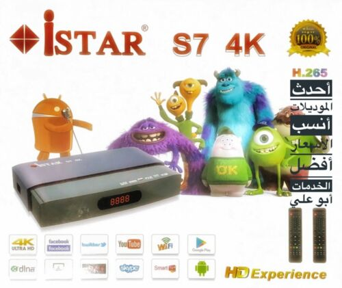 iSTAR Korea S7 Android 4K new Model with 1 Year Online Tv Code , ايستار كوريا
