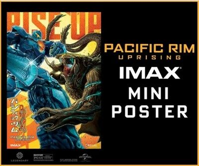 Used, PACIFIC RIM UPRISING new stylized IMAX EXCLUSIVE Regal POSTER Mini 13x19 for sale  Simpsonville