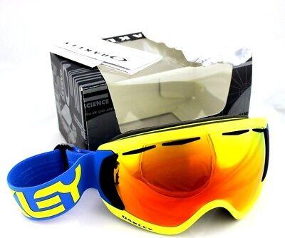caa183a394 OAKLEY CANOPY Pilot Retina Blue Fire Iridium Ski Goggle Sunglasses OO  7047-14