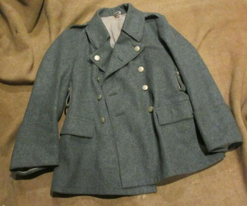 SWISS ARMY WW2 VINTAGE BLUE WOOL SHORT COAT EXCELLENT CONDITION 1941