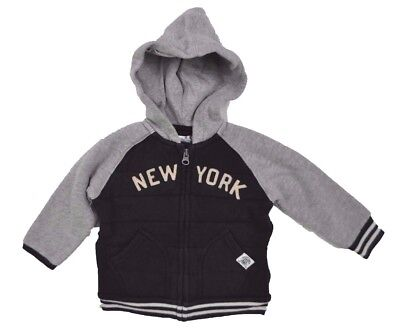 RALPH LAUREN Infant Baby Boys New York HOODIE Full Zip Jacket NAVY 12 Months 12M