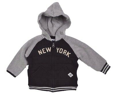 RALPH LAUREN Infant Baby Boys New York HOODIE Full Zip Jacket NAVY 18 Months 18M