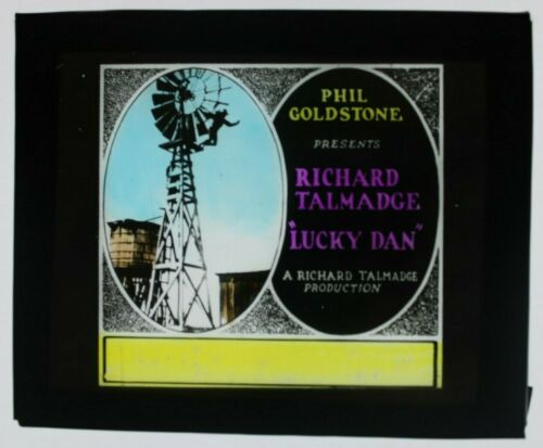 Lucky Dan (1922) glass slide - Richard Talmadge - free shipping