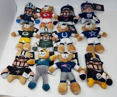 Good Stuff Nfl Com Stuffed Teddy Bear Plush Stuffed Football 8  Nwt Choose Team