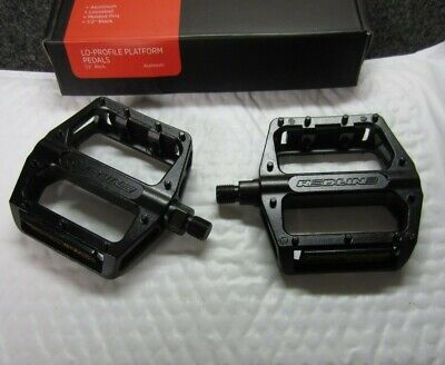 "New DK Black Platform BMX Pedals Aluminum 1//2/"" for 1-Piece Crank Replaceable Pin"