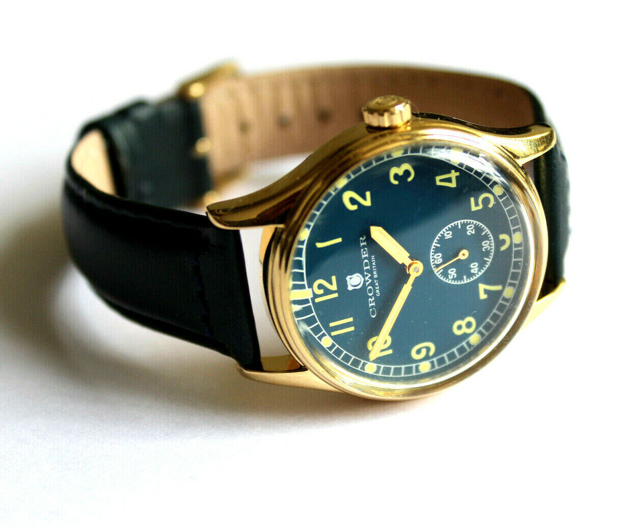 Crowder Retro / Vintage Military 1940s WW2 Replica Watch Blu