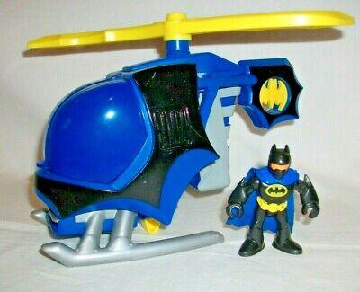 Vintage 2008 Imaginext Batman Bat Copter Helicopter & Figure