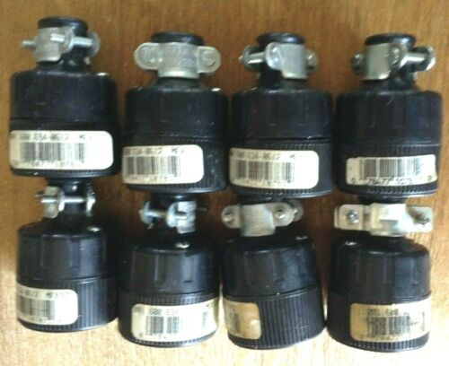 Lot of 8 Leviton 15 Amp/125 Volt Straight Blade Non-Grounding Connectors 001-612