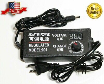 9-24v Voltage Variable Adjustable Acdc Power Supply Adapter Display