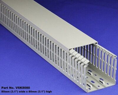 6 Sets - 3x3x2m Gray High Density Premium Wiring Ducts And Covers - Ulcecsa