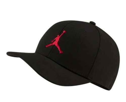 Air Jordan Big Boys Kids Jumpman Snapback Hat, Youth Size 8-20, Black/Gym Red