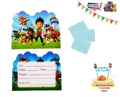 PAW PATROL Postcard Invitations Birthday Party Supplies Value Pack 10 Sets](Postcard Invitations)