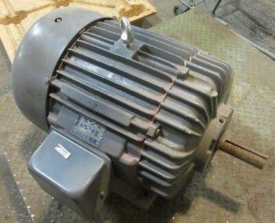 880 RPM 15HP 365S Frame Electric Motor Delco E2 3G6704 460v 21.8A 3PH 44110LR