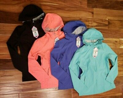 NWT Womens FREE COUNTRY Black Green Purple Pink Packble Rain Jacket S M L XL 2XL