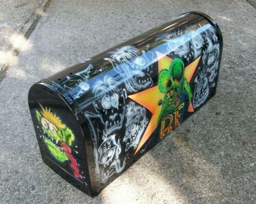 Ed Roth Rat Fink & Monster Friends Custom Airbrushed Mailbox Vintage Hot Rod Art