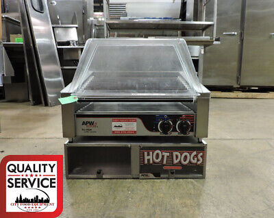 Apw Wyott Hr-31s Commercial Hot Dog Roller With Hot Dog Bun Warmer