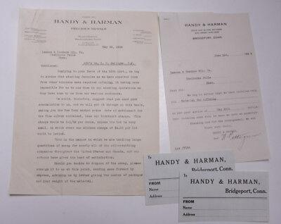 1926 Lamson Goodnow Handy Harman Bridgeport Ct Address Cards Ephemera L497k