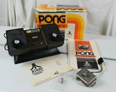 Atari Pong C-100 with Original Box - Old-School Game. Works Great!
