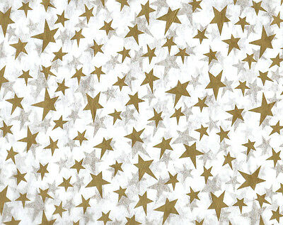 Gold Stars Tissue Paper - Gold Stars Tissue Paper ~ Wedding/Christmas # 431 ~ 10 Large Sheets