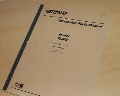 Caterpillar Jlg Tl943 Forklift Parts Manual Book Catalog Telehandler Lift Spare
