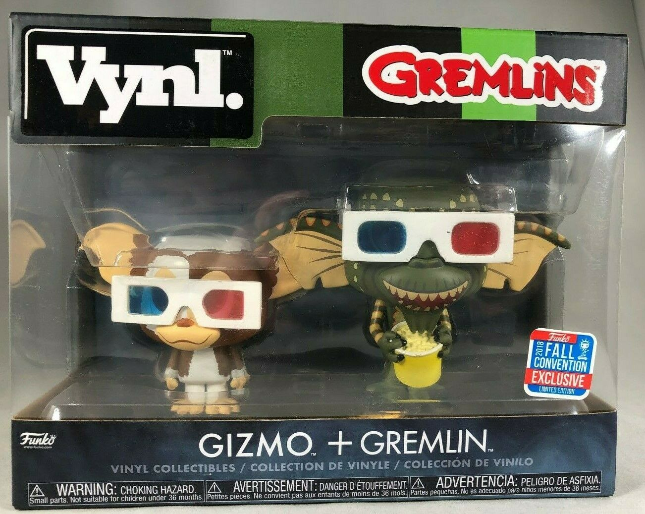 FUNKO VYNL GREMLINS GIZMO + GREMLIN 2 PACK 2018 FALL CONVENT