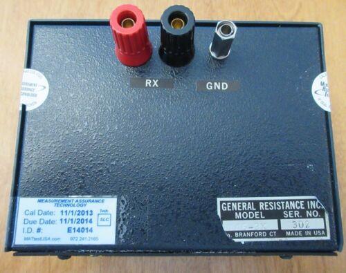 GENERAL RESISTANCE DIAL-AN-OHM RESISTANCE BOX MODEL DA46-3X 1K-11.11 M Ohms