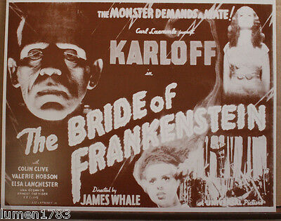 BRIDE OF FRANKENSTEIN KARLOFF 11 X 14 ACRYLIC PRINT WHALE LANCHESTER MONSTER NEW