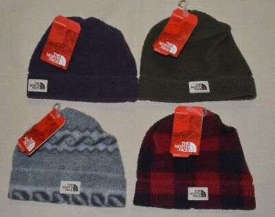 North Face Women's Sherpa fleece Beanie Hat One Size Reversible NF0A3547 -