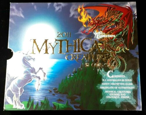 2011 AUSTRALIA YOUNG COLLECTORS MYSTICAL CREATURES $1 COIN SET