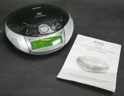 Jensen Audio AM/FM CD Dual Alarm Clock Radio Model JCR-332