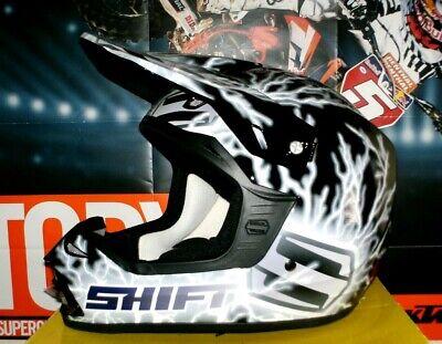 SHIFT RIOT Midnight MX MTB Helm Cross Enduro KTM Schwarz NEU Quad...