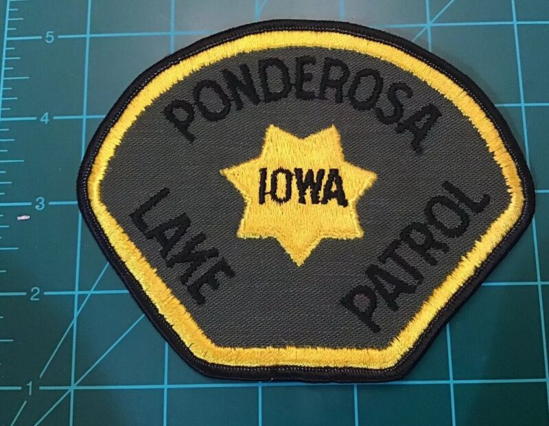 OBSOLETE POLICE PATCH RARE LAKE PONDEROSA PATROL IOWA SHERIFF