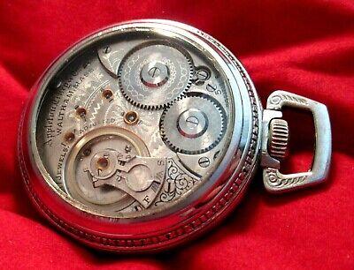 FANTASTIC WALTHAM 1892 18s 17 j Jewel Pocket Watch DISPLAY SALESMAN CASE USA