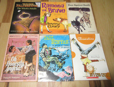 Kids Book Lot: Mixed Lot: RL 3-4: Halloweentown/Ramona/Race Against Death & More