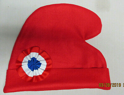 Phrygian Cap Smurf  Liberty Hat French Revolution Les Miz Tale of Two Cities   - Red Smurf Hat