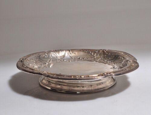 French Tetard Freres PARIS Sterling Silver Pedestal Bowl Dish- 1900c