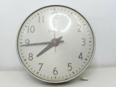 """Vintage Simplex 16"""" Circle Wall Clock Glass / Metal Industrial School Metal"""