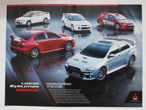 Mitsubishi LANCER Final Edition 2017 Official Showroom poster