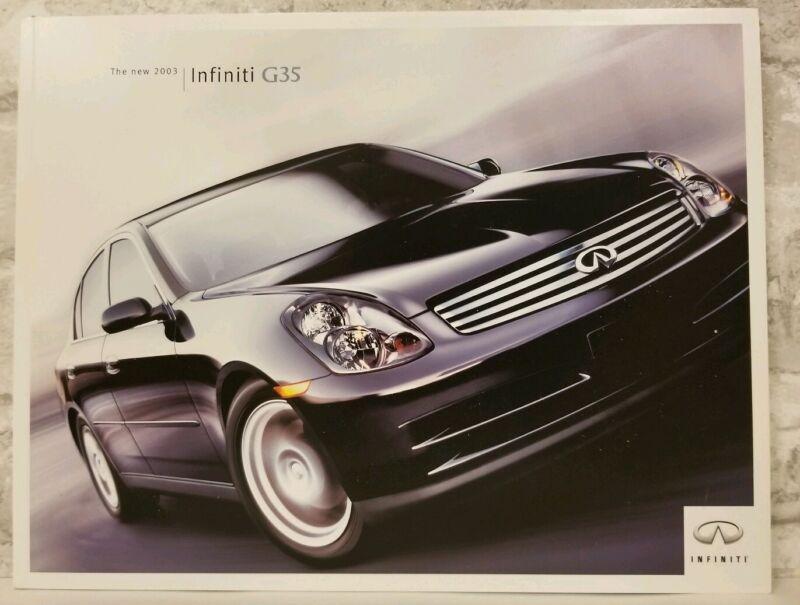 2003 Infiniti G35 Luxury Prestige Dealer Sales Car Import Brochure Catalog