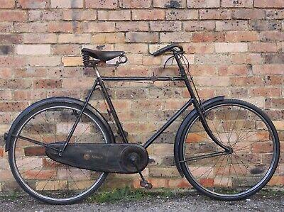 "Sunbeam All Black Royal Roadster Bicycle 24"" Vintage Brooks Classic Veteran 1913"