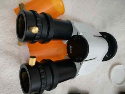 Telescope Binoviewer LEICA w/ LEICA 10x/22 eyepieces & telescope adapter