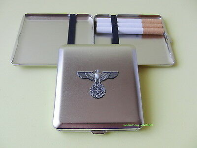 Zigaretten Etui mit Emblem REICHSADLER u. EISERNES KREUZ NEU OVP