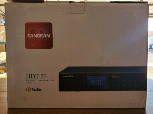 Sangean AM/FM HD Component Tuner, Black, Large HDT-20