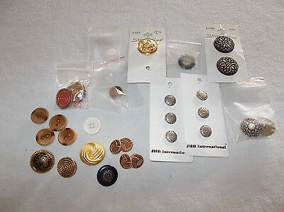 Small lot miscellaneous designer quality clothing buttons as pictured
