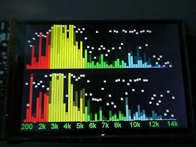 Level Indicator Color Lcd Audio Spectrum Analyzer Sound Vu Meter Oscilloscope